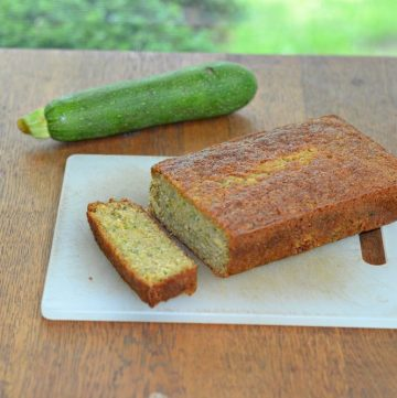 Fresh zucchini lemon ginger bread