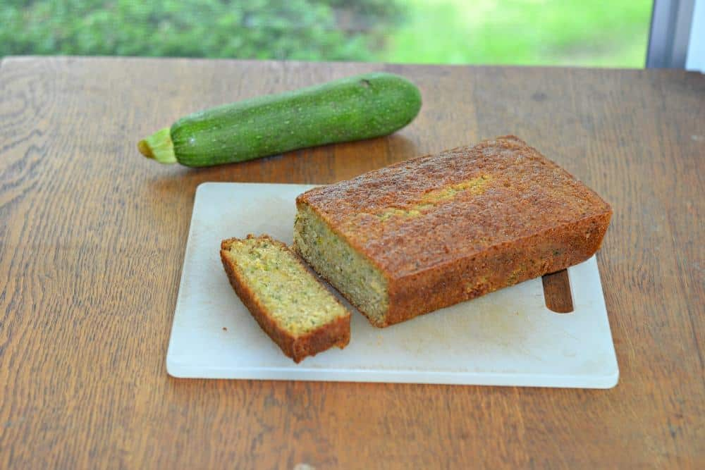 Fresh zucchini lemon ginger bread
