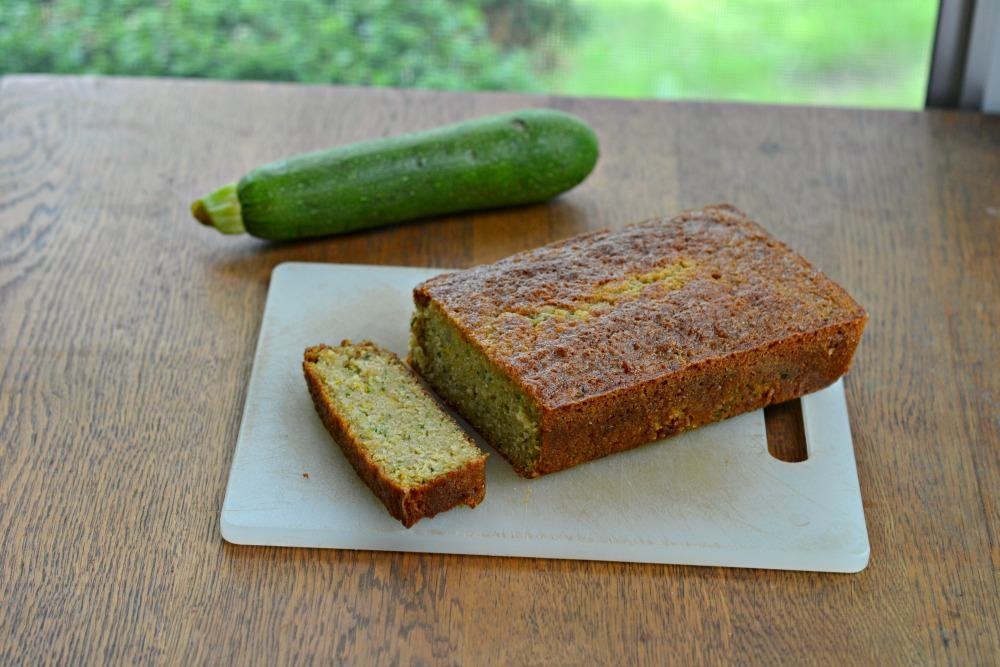 Zucchini bread with lemon and ginger
