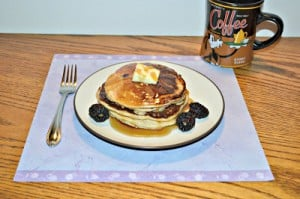 9 Grain Blackberry Pancakes