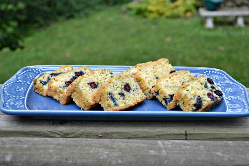 Delicious Blueberry Zucchini Bread is a delicious way to eat fresh produce.