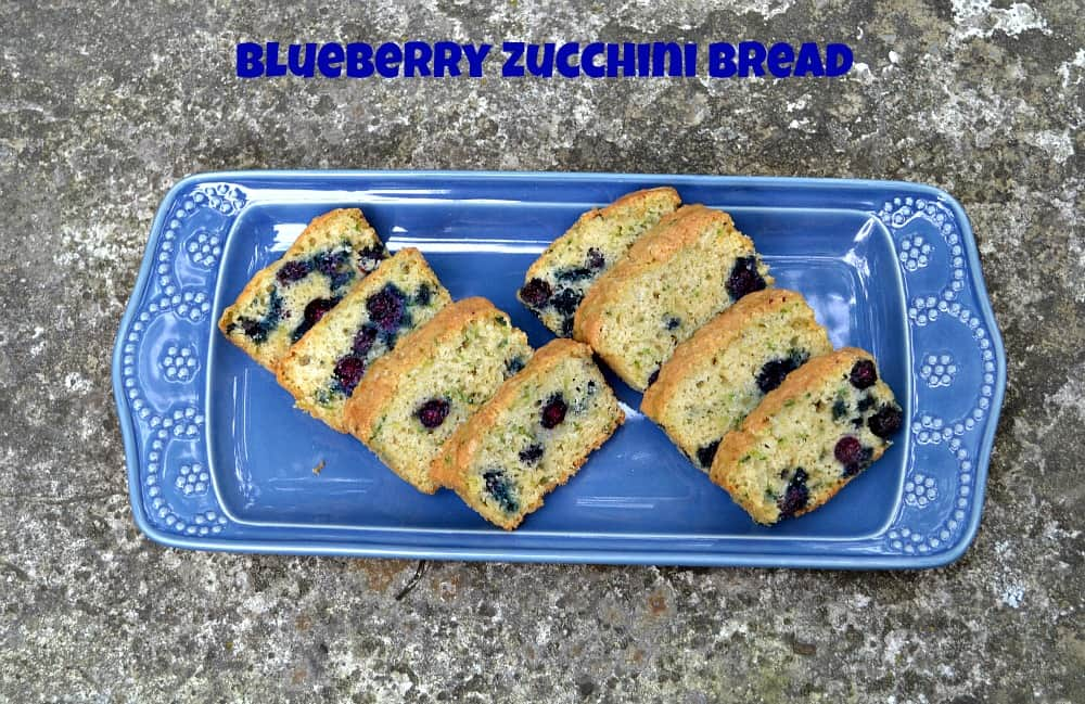 Blueberry Zucchini Bread is a great way to use produce from the CSA