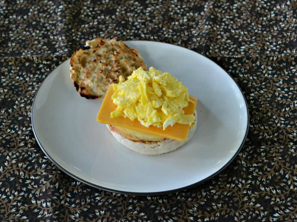 Apple Cheddar Breakfast Muffins from Crazy for Breakfast Sandwiches