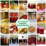 25 + Fruit and Vegetable Canning Recipes!