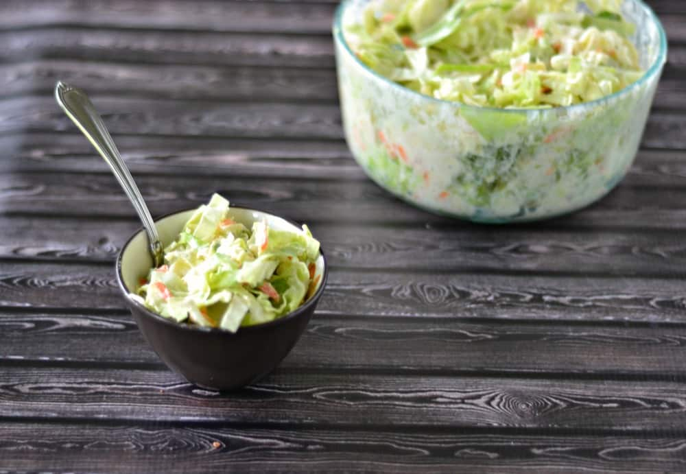 Bobby Flay's Creamy Cole Slaw using our CSA ingredients