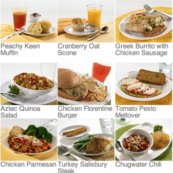 Diet to go has a huge selection of breakfast lunch and dinner