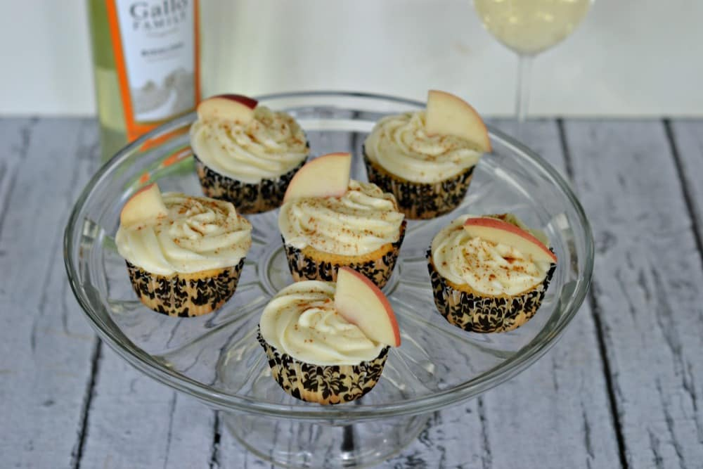 Grilled Peach Cupcakes