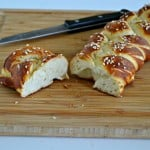 Vegan Hot Pretzel Challah Bread + a review of Mayim's Vegan Table