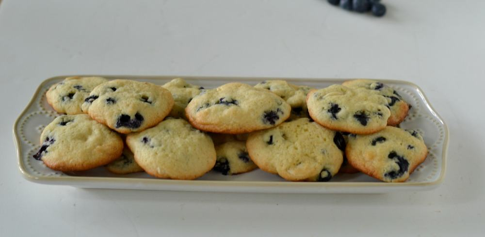 Delicious Lemon Blueberry Cookies using summer's bounty