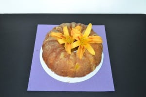 Peaches and Cream Bundt Cake #BundtAMonth