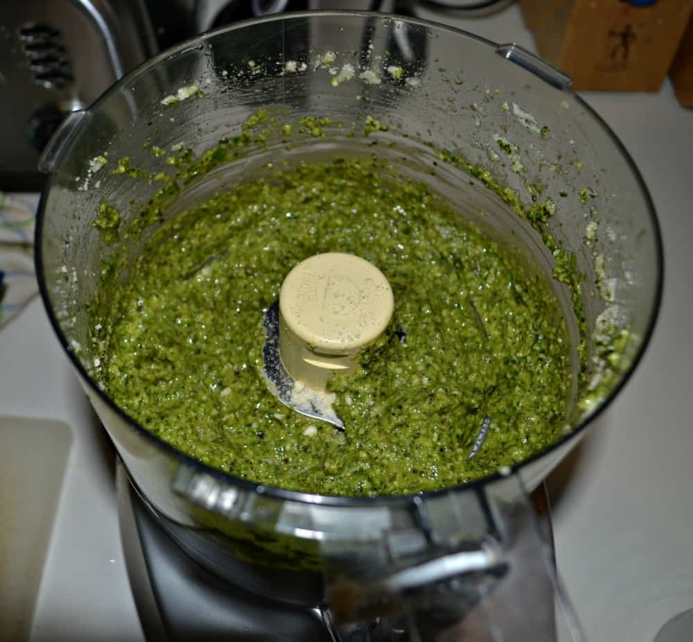 Fresh made pesto from our CSA
