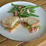 Blue Apron and Heirloom Tomato & Fontina Grilled Cheese Sandwiches