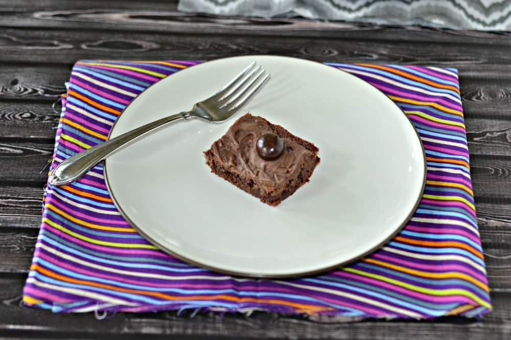 Triple Chocolate Cranberry Brownies made with Dove chocolates