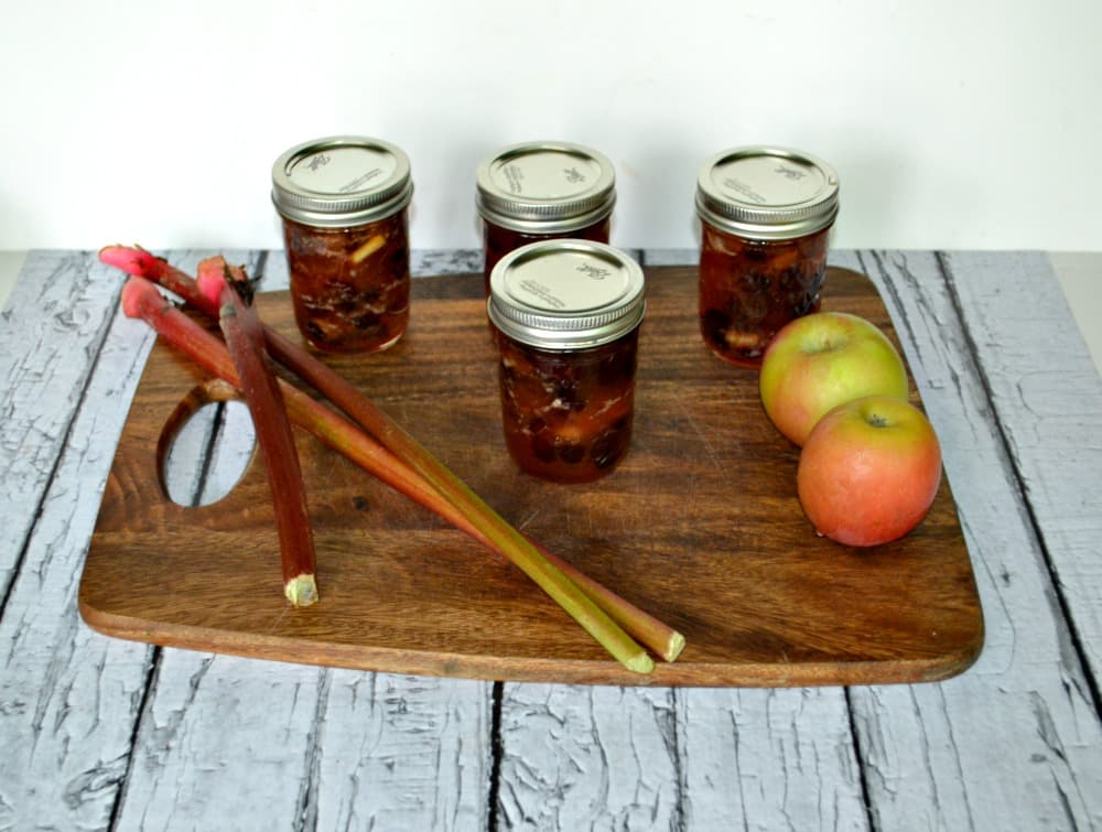 Apple Rhubarb Chutney