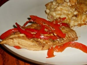 Roasted Chicken with Balsamic Bell Peppers