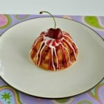 Vanilla Cherry Swirl Mini Bundt Cake #BundtAMonth