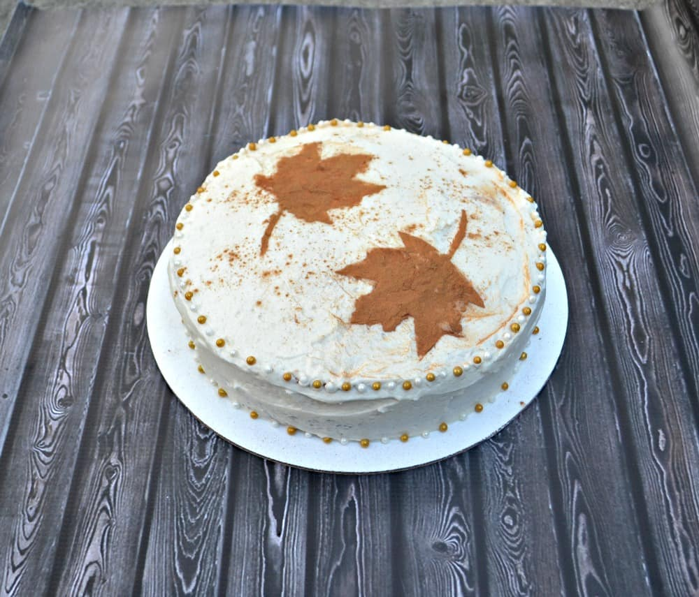 Cinnamon Spice Cake with Caramel Frosting is a delicious fall treat