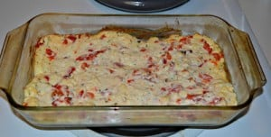 Warm Roasted Feta and Red Pepper Dip: Secret Recipe Club