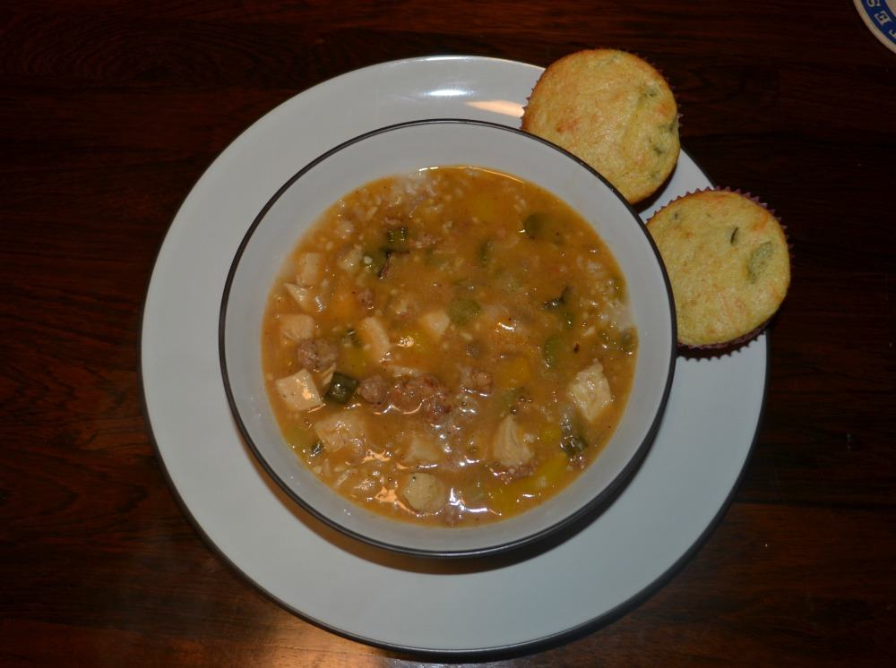 Deliciously spicy Chicken and Andouille Gumbo