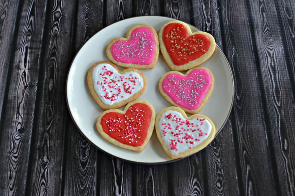 Fun heart shaped sugar cookies for a good cause!
