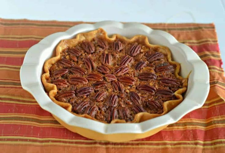 A gorgeous Pecan Pie perfect for Thanksgiving dinner