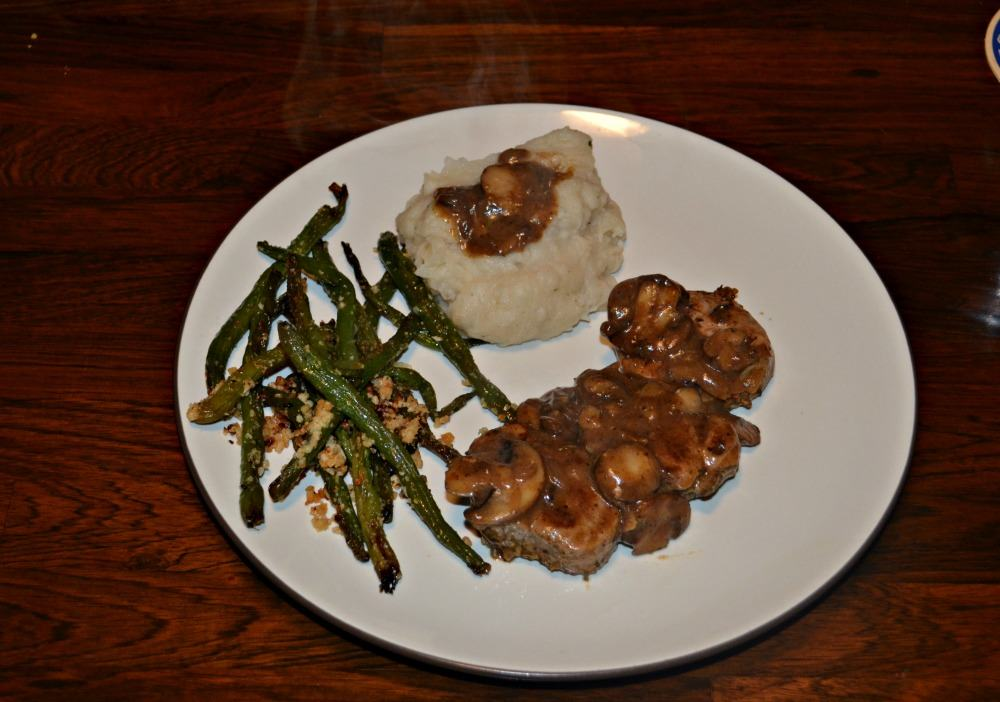 Quick and delicious Pork Medallions topped with Mushroom Gravy