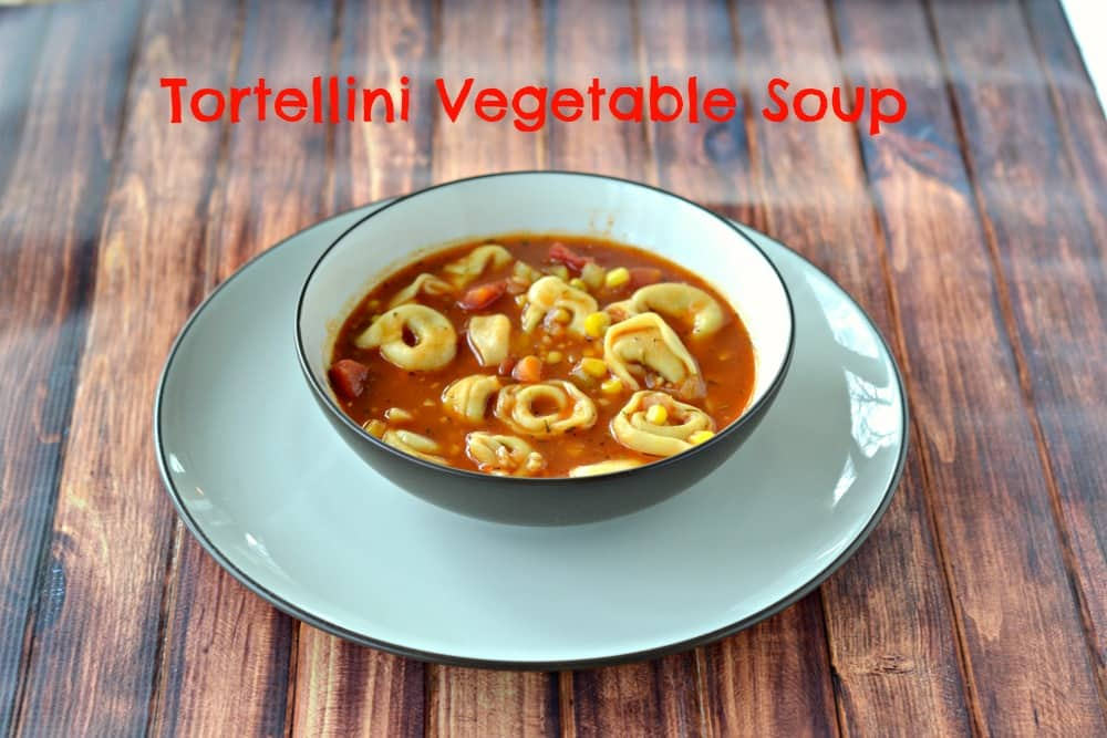 Vegetable Tortellini Soup is a delicious way to use summer vegetables.
