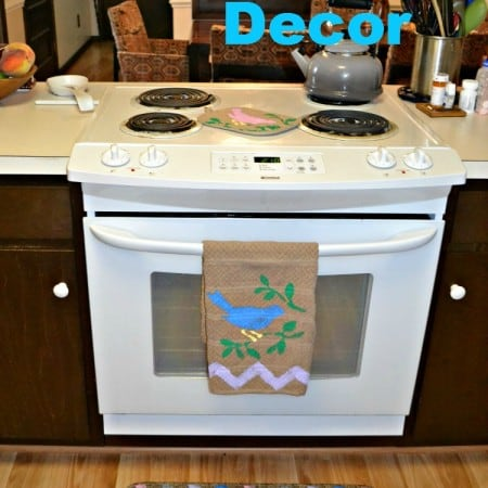 DIY Kitchen Decor! I made a rug, kitchen towel, 2 pot holders, and an oven mitt in under 2 hours with Tulip For Your Home products