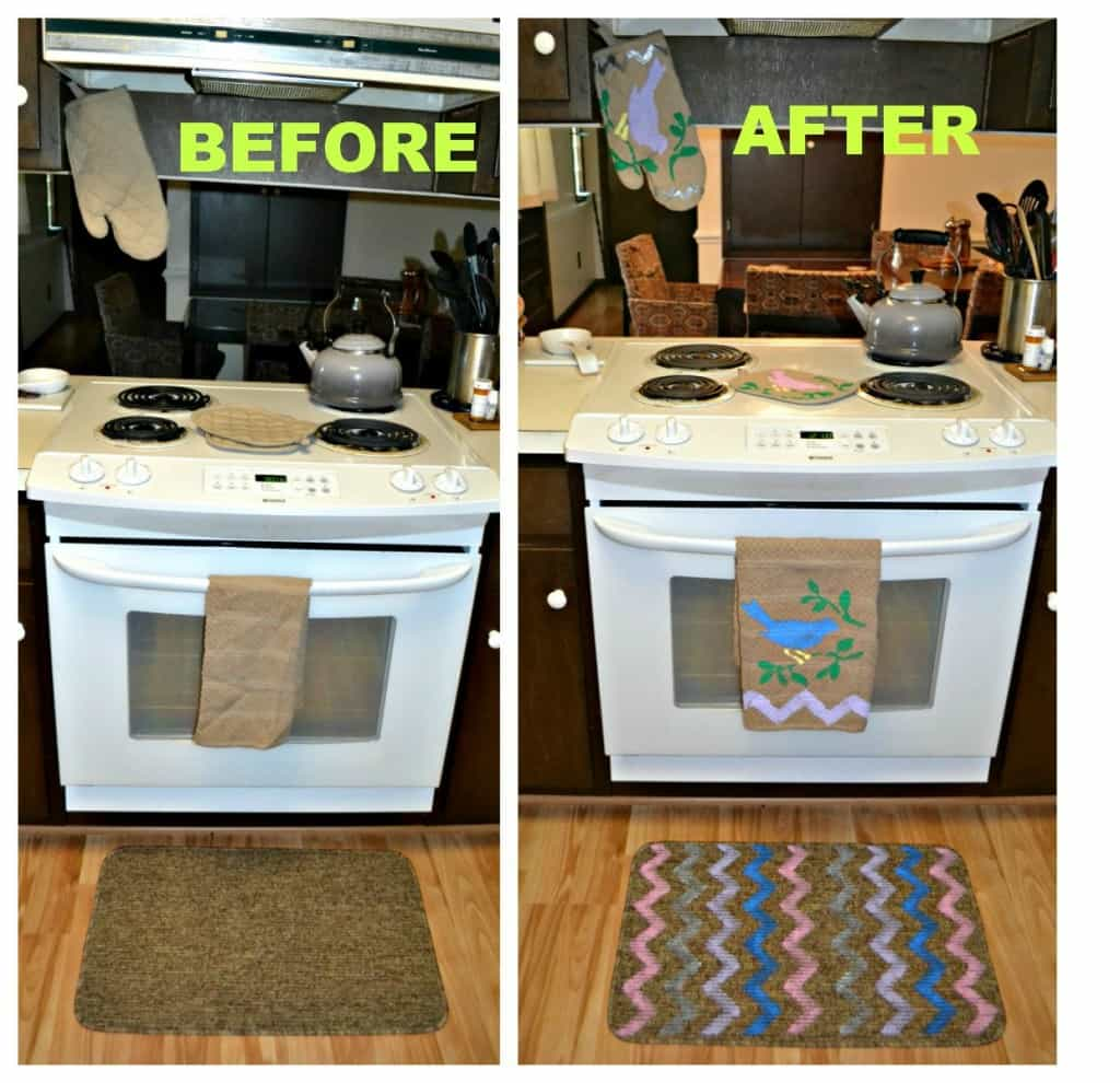 My kitchen decor before and after using Tulip For Your Home