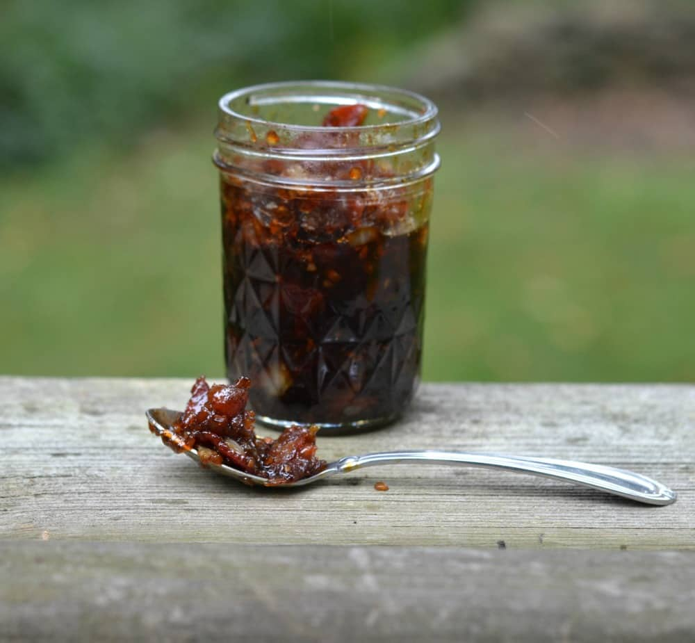 Savory and slightly sweet Bacon Jam is delicious on sandwiches, rolls, or to eat with a spoon.