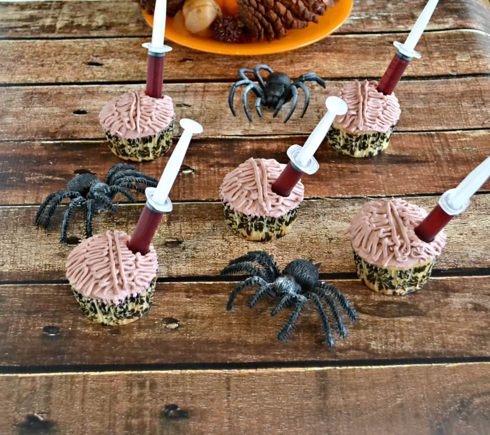 Brain Cupcakes with Red Moscato Wine Shooters