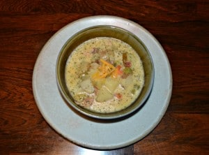 Cheddar Beer Potato Soup :   CSA Tuesday