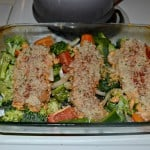 Hummus Crusted Chicken with Broccoli and Peppers for #HummusDay