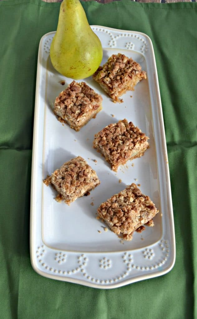 I can't get enough of these Brown Butter Pear Blondies