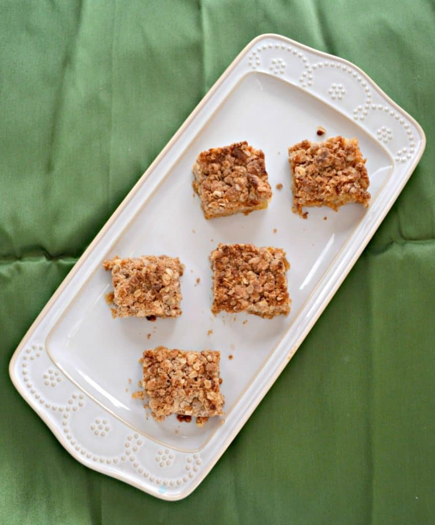 Brown Butter Blondies with Pears
