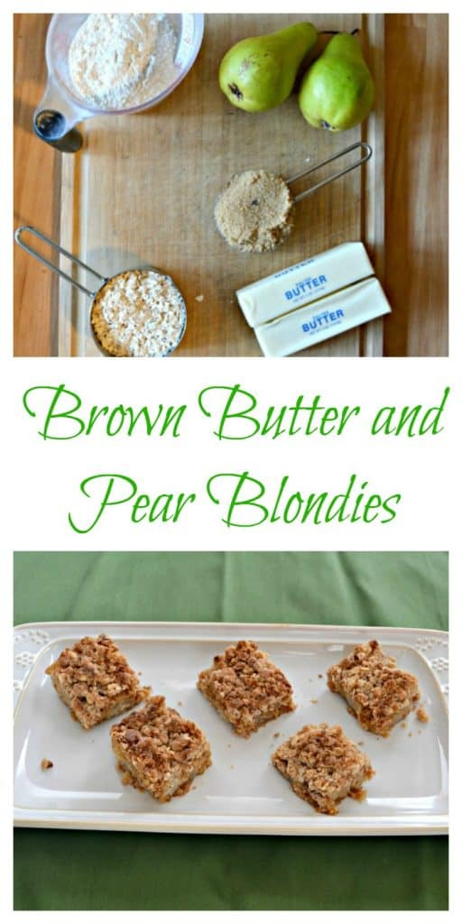 EVerything you need to make Brown Butter and Pear Blondies