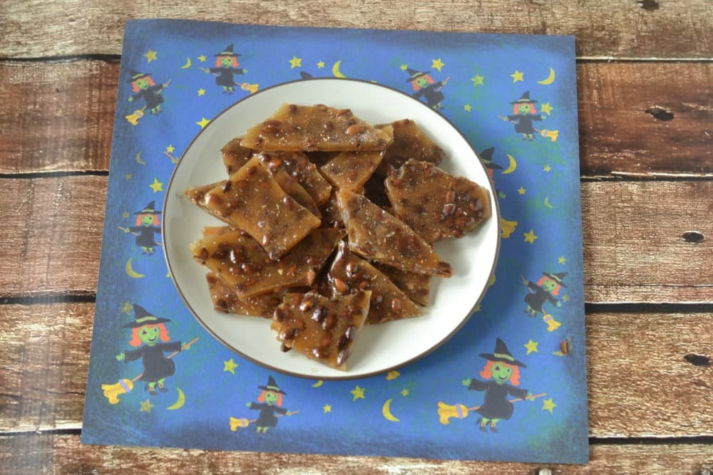 Sweet, salty, and spiced Pumpkin Brittle