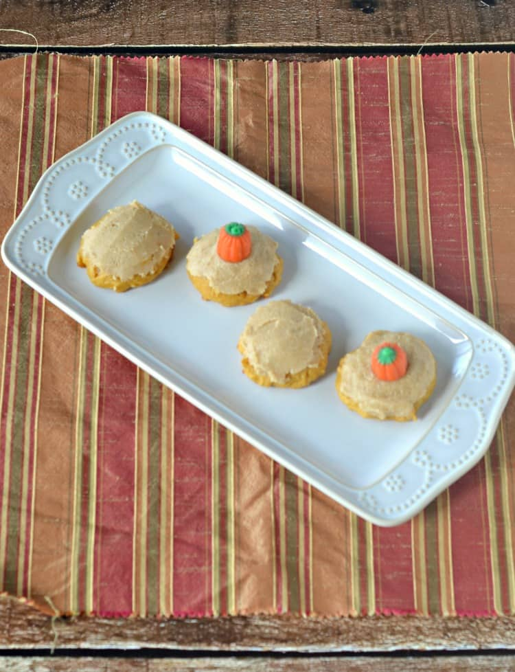 Pumpkin Cookies with Brown Butter Frosting
