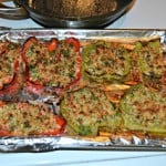 Roasted Peppers with Herbed Breadcrumbs