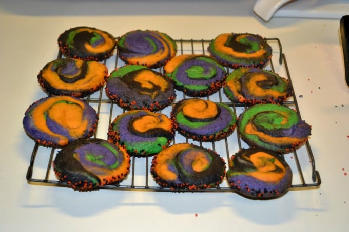 Swirly Halloween Cookies are fun to make and even more fun to eat!
