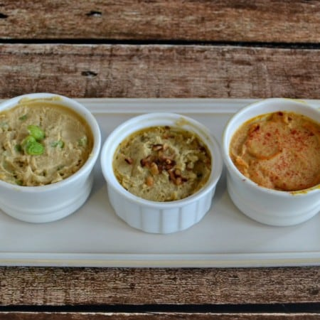 Trio of Hummus: An Easy Appetizer idea made from Sabra Hummus