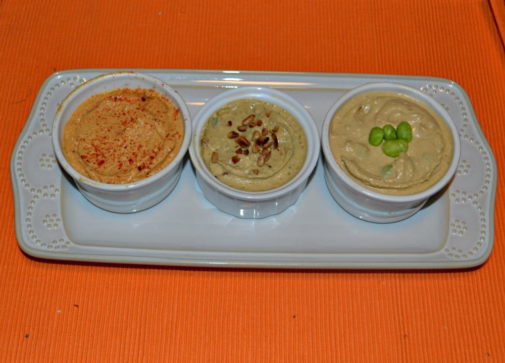 A Trio of Hummus:  Three ways to flavor Sabra original hummus