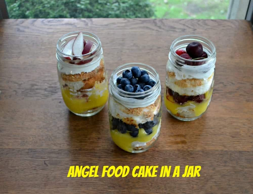 Individual Angel Cakes in a Jar