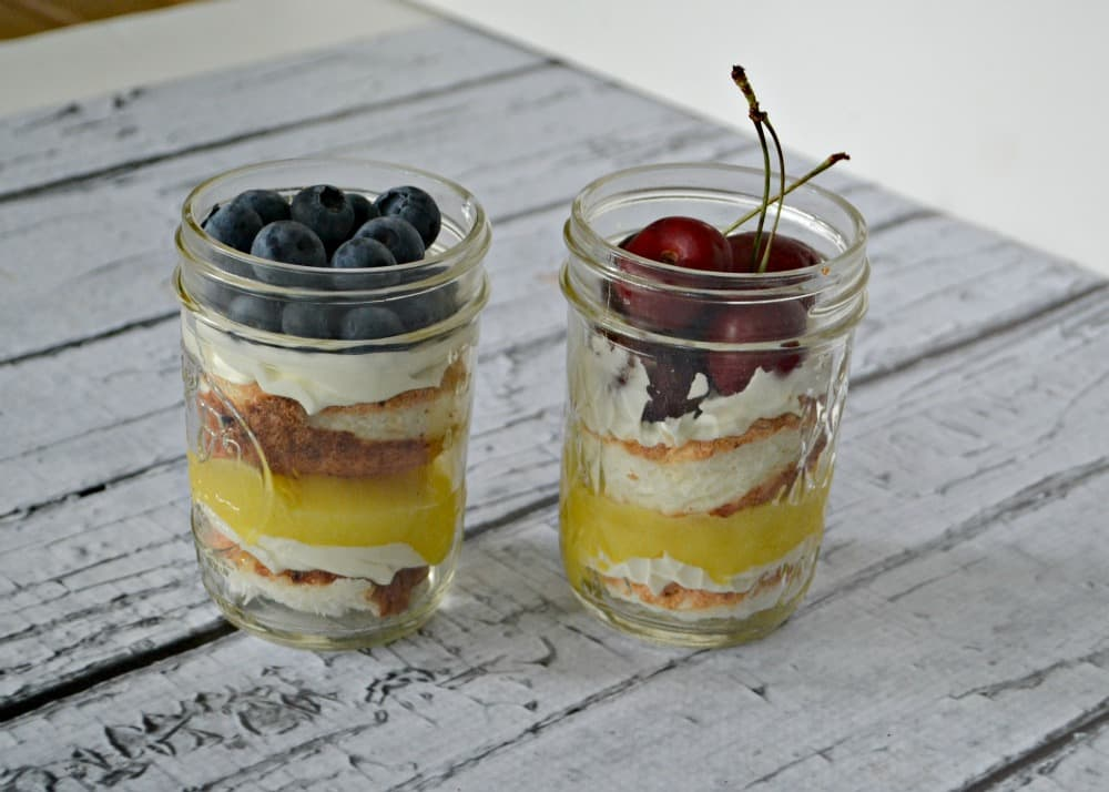 Angel Food Cake in a Jar