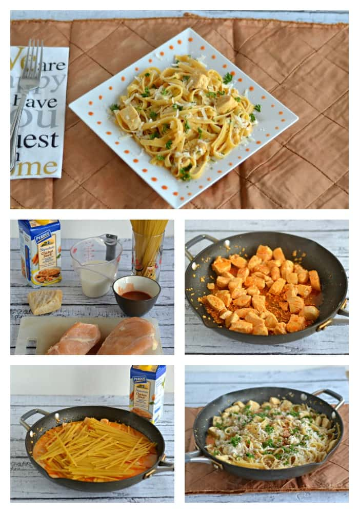 Buffalo Chicken Alfredo: Process at a glance!