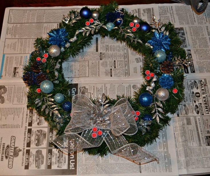 DIY Christmas Wreath is easy to make and cheaper then store bought!