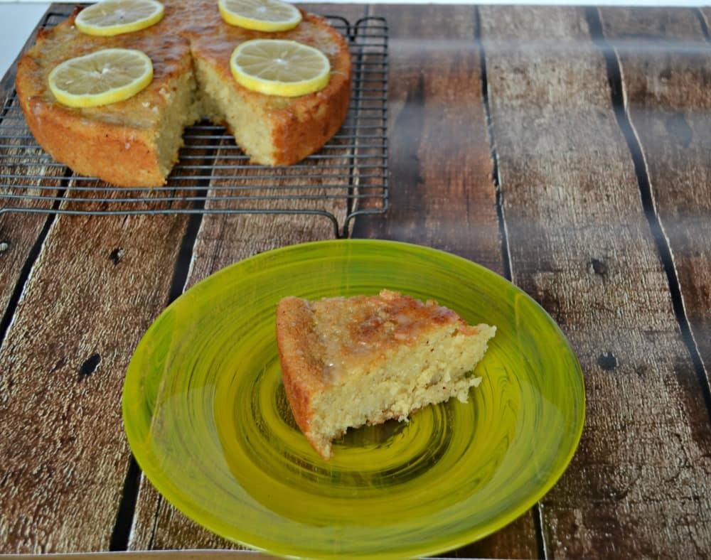 Gluten Free Lemon Cake using Thanksgiving leftovers