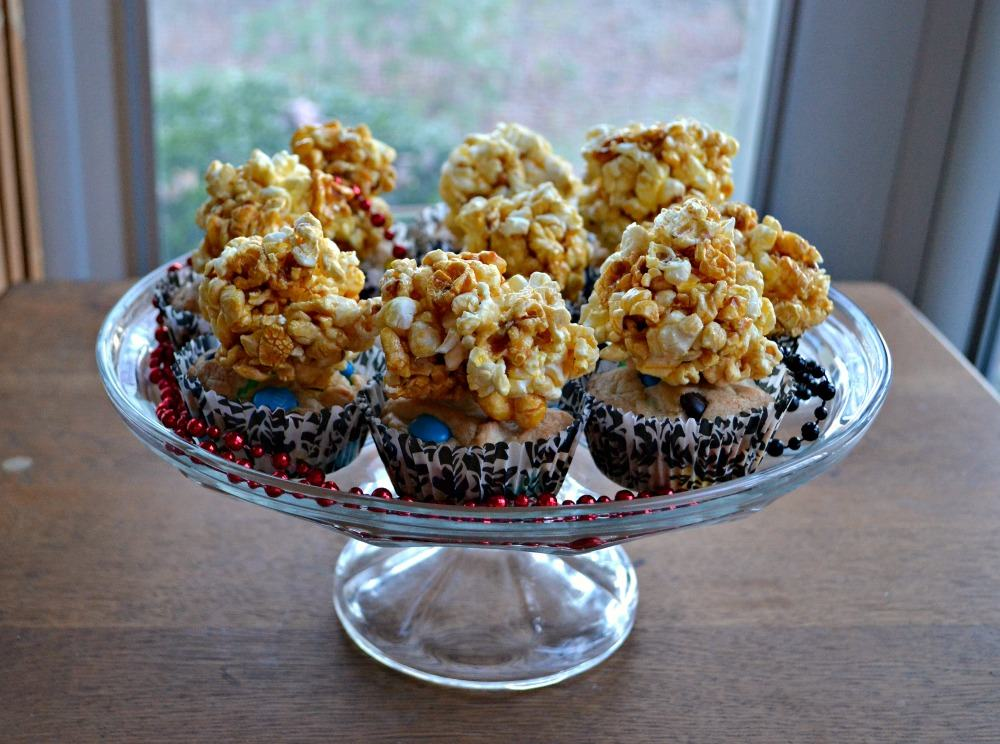 M&M's blondies with Caramel corn popcorn balls