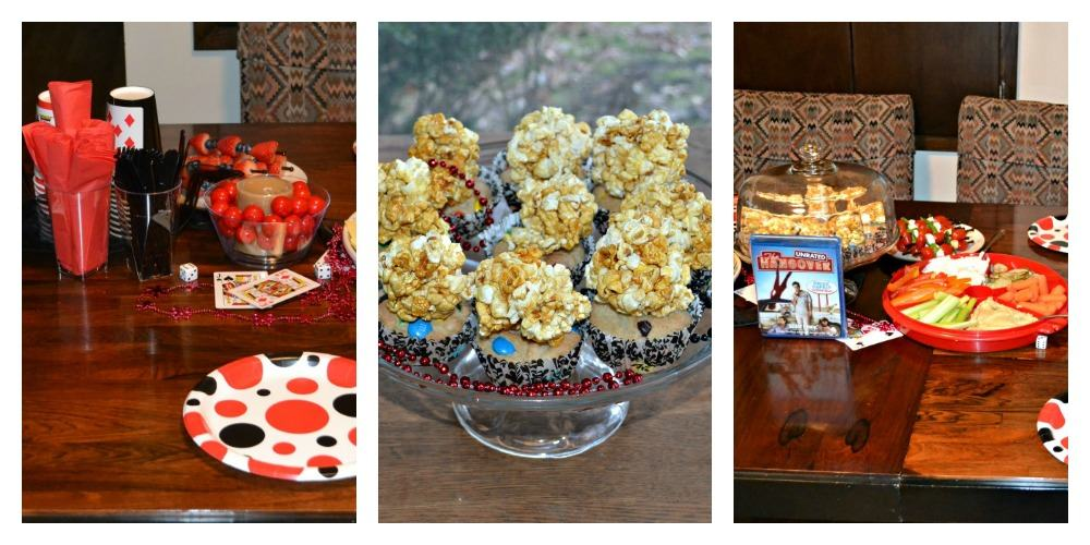 Delicious snacks for the Las Vegas Themed movie night!