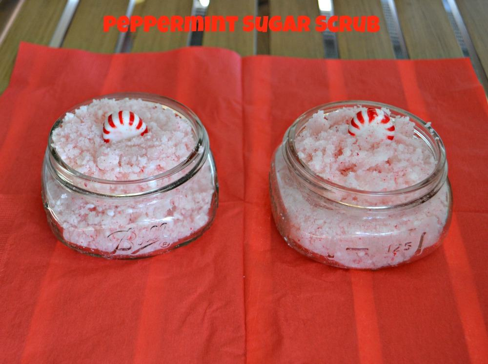 DIY Peppermint Sugar Scrub is a fun holiday gift